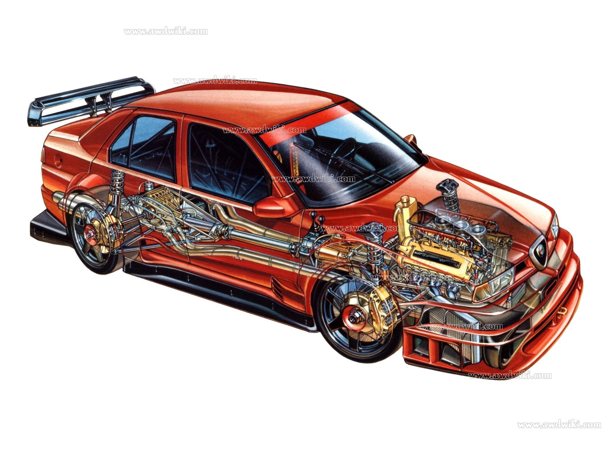 Alfa Romeo All Wheel Drive Explained Awd Cars 4x4 Vehicles 4wd Transmission Diagrams 155 Dtm 2